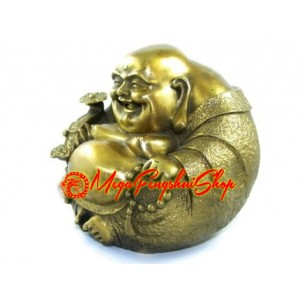 Brass Round Laughing Buddha (L)