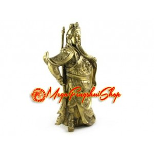 Brass Standing Kwan Kung with Knife