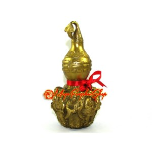 Brass Wu Lou with 3d Eight Immortals and Magical Objects