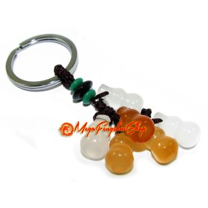 Bunch of Chalcedony Wulou for Health Keychain