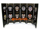 Chinese Mini Folding Screens - Chinese Opera Masks