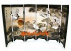 Chinese Mini Folding Screens - Cranes and Pines