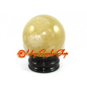 Citrine Feng Shui Crystal Ball (L)
