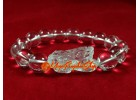 Clear Quartz Crystal Feng Shui Piyao Elastic Bracelet