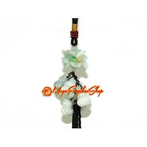 Cluster of Jade Feng Shui Wu Lou Amulet