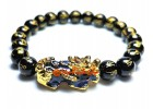 Color-changing Pi Xiu with Om Mani Obsidian Bracelet
