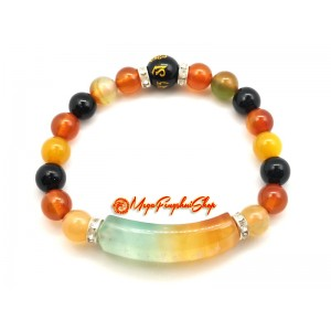 Colorful Agate Om Mani Padme Hum Mantra Bracelet