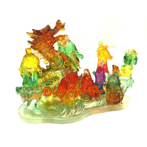 Colorful Eight Immortals Crossing the Great Waters