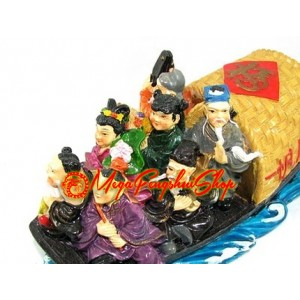 Colorful Eight Immortals on Boat