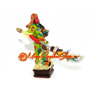 Colorful Guan Gong Holding Dragon Sword
