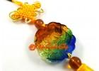 Colorful Liuli Glass Money Frog Hanging Tassels