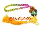 Colorful Liuli Glass Wealth God Hanging Tassels