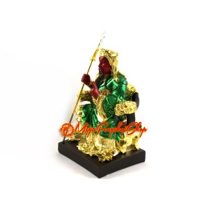 Colorful Seated God of War Guan Gong