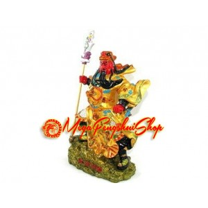 Colorful Standing God of War Kwan Kung