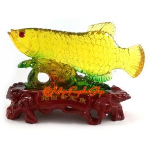 Colourful Liuli Feng Shui Arowana Fish