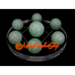 Crystal Balls on Star of David Symbol (Aventurine)
