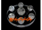 Crystal Balls on Star of David Symbol (Clear Quartz)
