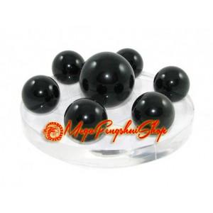 Crystal Balls on Star of David Symbol (Obsidian)