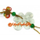 Crystal Mystic Knot Lucky Charm Hanging (Jade)