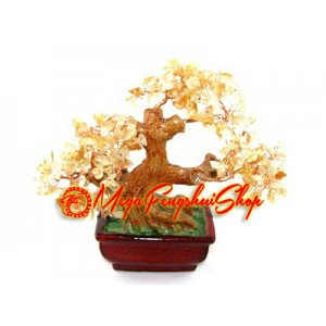 Crystal Tree to Attract Wealth (Citrine)