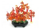 Crystal Wishfulfilling Agate Tree with 9 Gold Coins