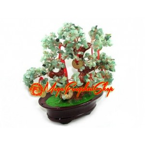 Crystal Wishfulfilling Bonsai Tree with 9 Coins (Aventurine)