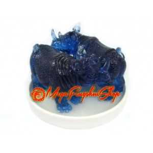 Double Blue Rhino Feng Shui Violent Star Cure