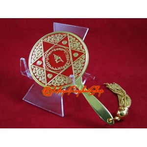 Double Pyramid Red Goddess Mirror