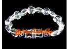 Dzi Bead with Clear Quartz Hearts Bracelet