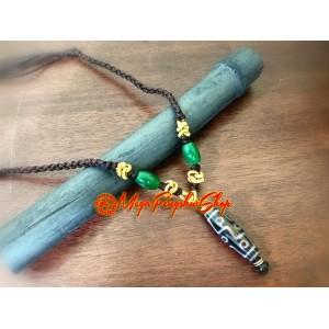 Dzi Bead Oriental Necklace (Adjustable)