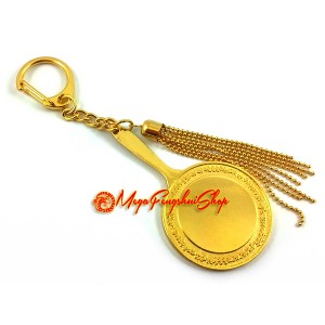 Eight Petal Lotus Mirror of Manjushri Keychain