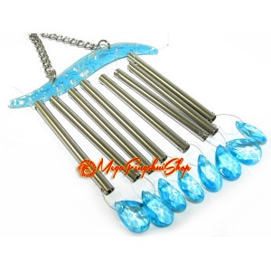 Eight Rod Water Droplet Crystal Feng Shui Windchime