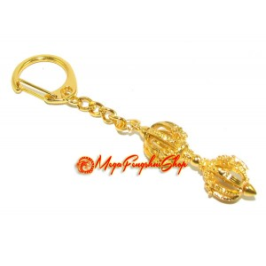 Eight Spoke Dorje Feng Shui Keychain