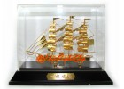 Exquisite Handcrafted Wealth Ship (24k Gold Plated) 35gp