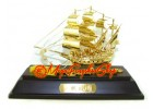 Exquisite Handcrafted Wealth Ship (24k Gold Plated) 31gp