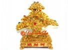 Extravagant Bejeweled Golden Wealth Magnifying Money Tree