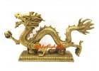 Feng Shui Brass Dragon Grasping Ball (XL)