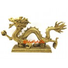 Feng Shui Brass Dragon Grasping Ball (XL)
