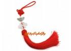 Feng Shui Jade Mystic Knot Tassels