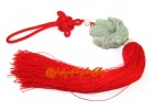 Feng Shui Pair of Jade Carps Tassels