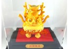 Feng Shui Wealth Pot with Stacks of Gold Ingots