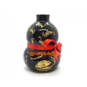 Feng Shui Wu Lou with Five Bats - Obsidian