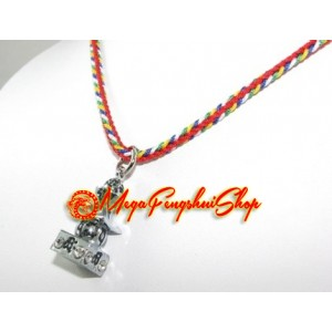 Five Element Pagoda Feng Shui Pendant Necklace