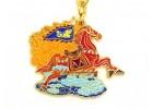 Flying Windhorse Amulet Keychain