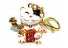 Fortune Cat Beckoning Wealth Keychain