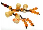 Four Yellow Jasper Feng Shui Wu Lou Amulet Hanging