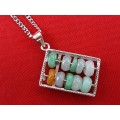 Fuk Luk Sau Jade Abacus Pendant