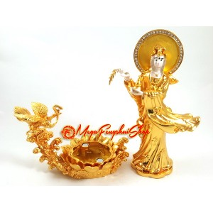 Goddess Kuan Yin with Garuda