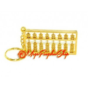 Golden Abacus Feng Shui Keychain (s)