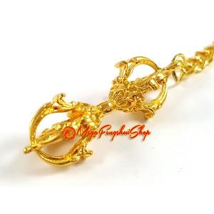 Golden Dorje Feng Shui Keychain